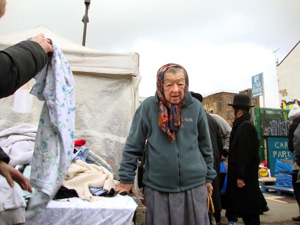 Market trader. Sclater Street 2012