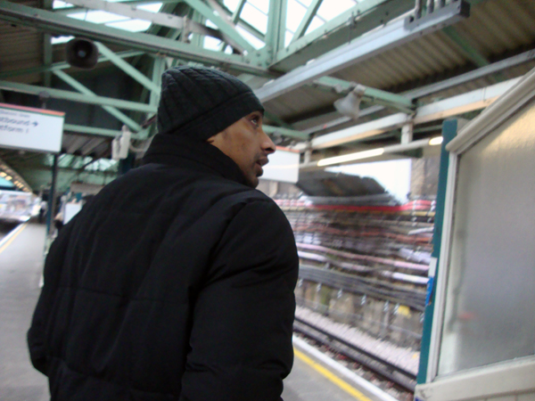 Man at Whitechapel Station. London 2012