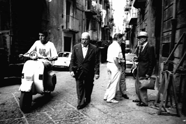 Man on his bike. Napoli, Italy 1989