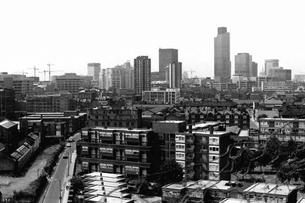 City view looking west. London 1989
