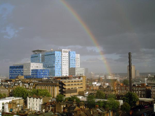 City view looking towards Canary Wharf. London 2010