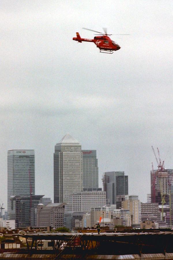 City view looking towards Canary Wharf. London 2001