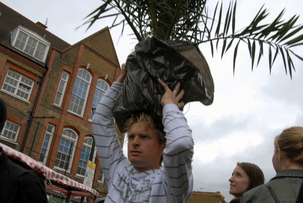Man with a plant. Columbia Rd, London 2007