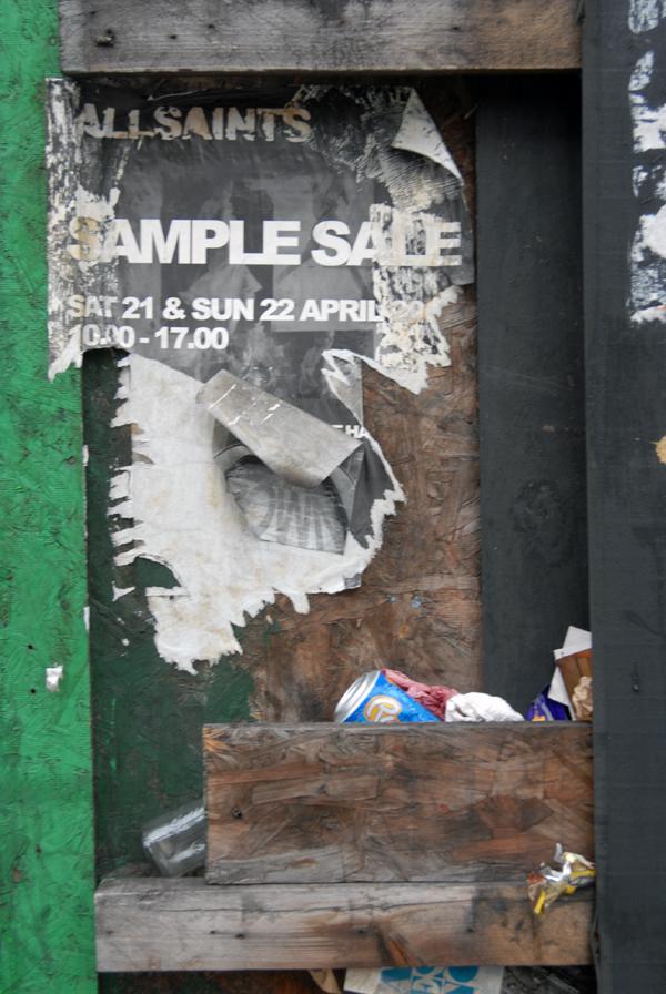 Sample Sale. Spitalfields 2005