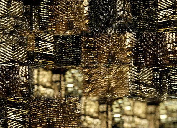 The lights of Manhattan. Photomontage 2012