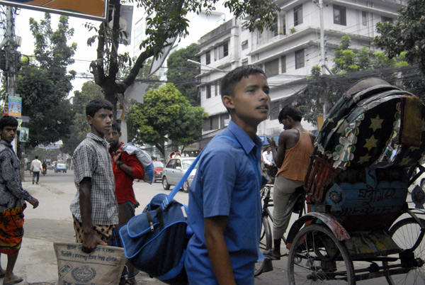 A group of youths on the street. Dhaka, Bangladesh 2008
