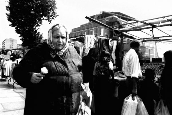 Woman with Ice Cream.Whitechapel Road, 1983