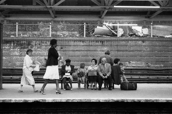 Platform at Whitechapel Station. London 1990's