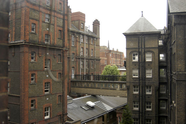 A Bridge Joining Different Buildings Of The Old London Hospital 2004