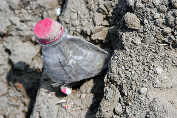 Plastic water bottle. Berlin Landfill site 2002