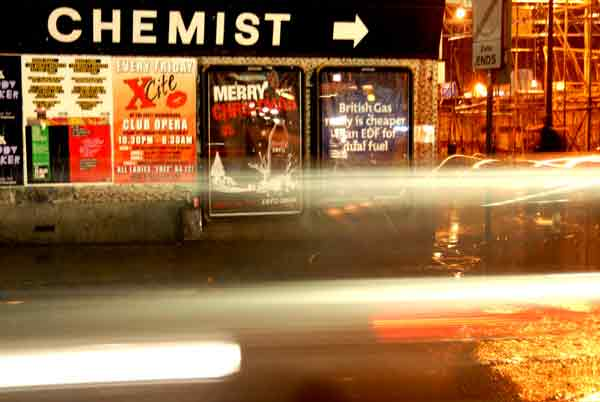 Chemist in Vallance Road. London 2005