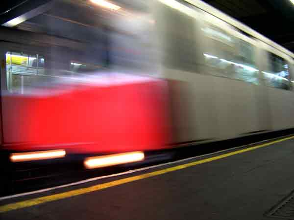 Underground train. London 2004