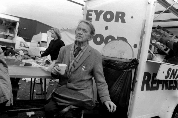 Man smoking, Spitalfields Sunday Market. London 1984