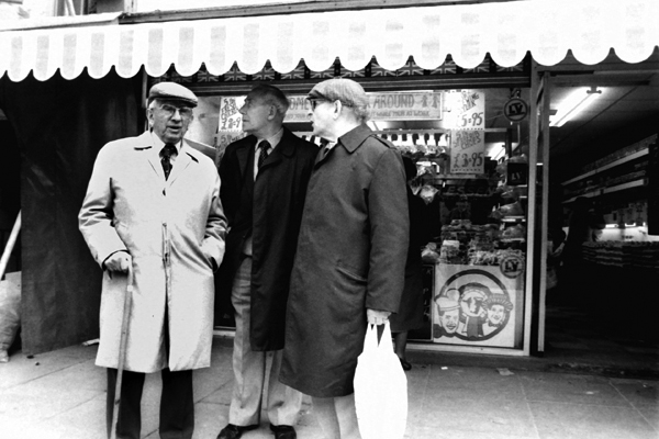 Trio in Whitechapel, London 1984