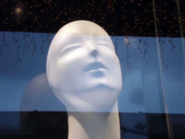 Mannequin in shop window. Venice 2005