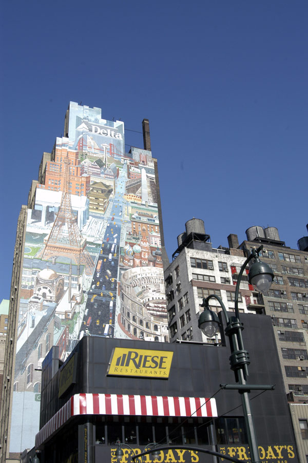Mural on wall. New york City 2005