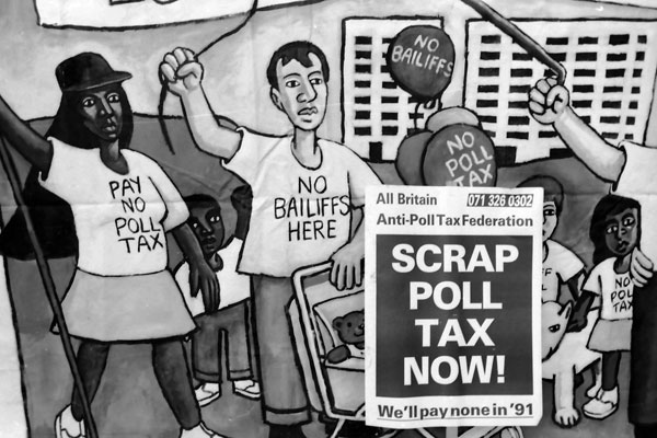 Anti Poll Tax messages. Glasgow 1990