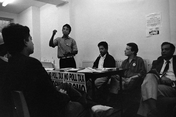 No Poll Tax meeting with a local councillor. East London 1990