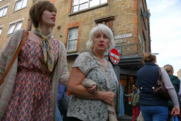Walking towards Cheshire Street, London 2012