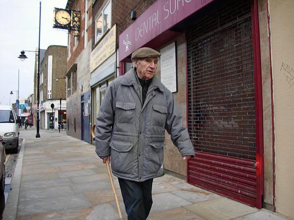 Man walking, Roman Road London 2009