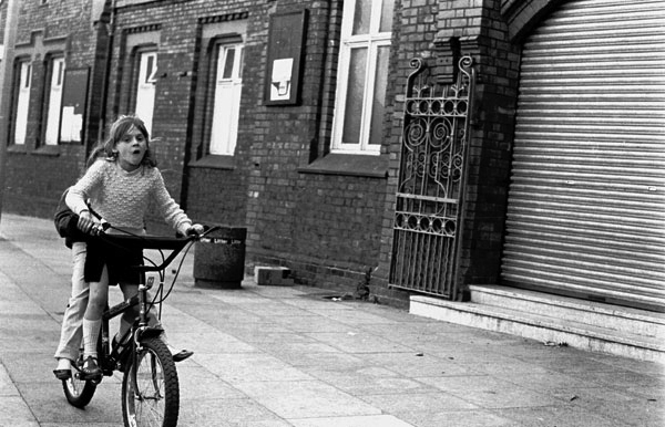 Children on a bike, Liverpool c.1979