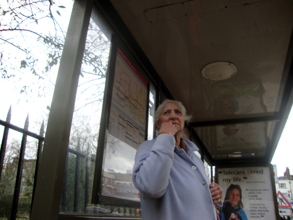 Bus stop, Bethnal Green 2010