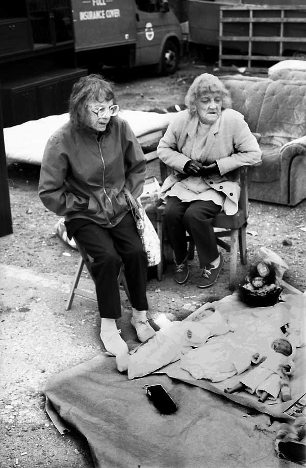 Sunday market, Vallance Rd, london c.1987