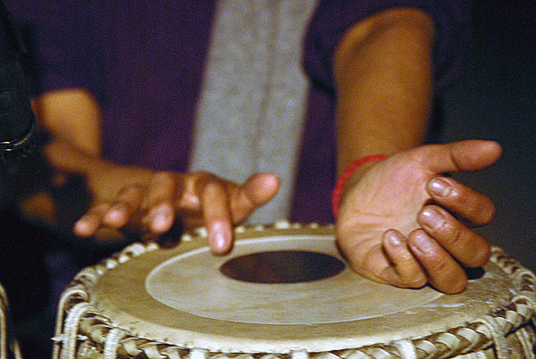 Hands playing the Tabla, London 2009
