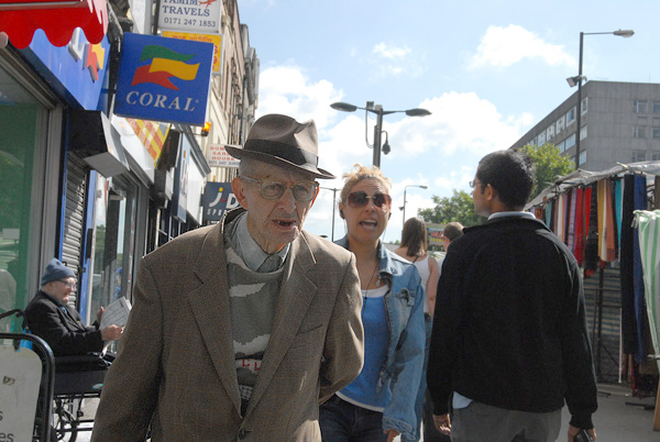 Man with a hat, Whitechapel 2012