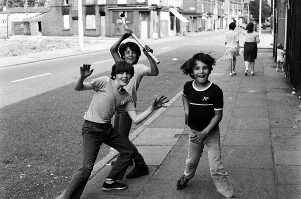 Children playing on the street, Liverpool c. 1980
