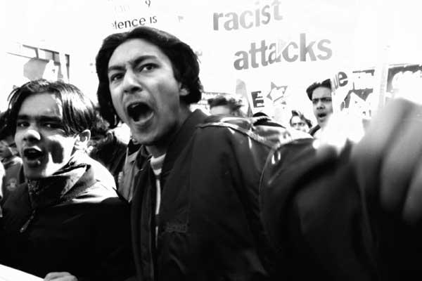 Anti Racist demonstration, Whitechapel 1994