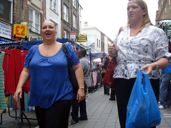 Lady with bag, Petticoat Lane Whitechapel 2009
