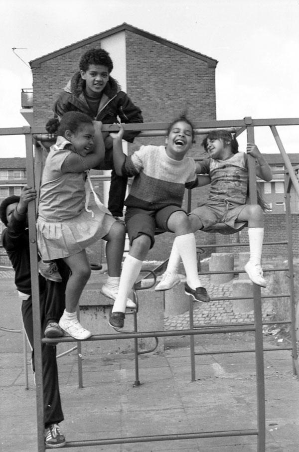 Liverpool 8 playground, c.1980