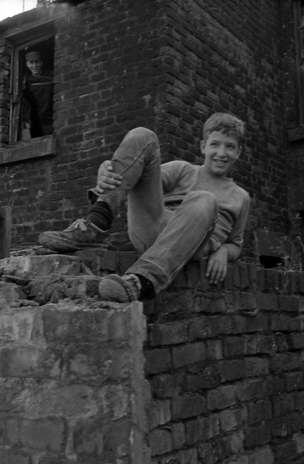 Boy in slum clearance area, Liverpool 1980