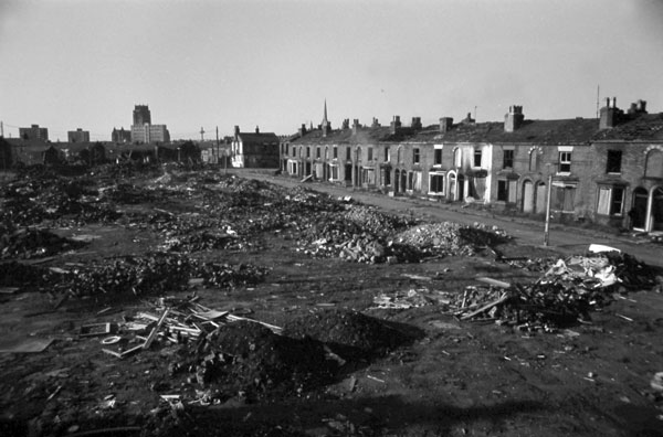Slum clearance area, Liverpool 1980