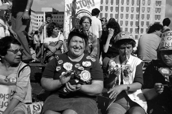 Women in support of the miners, London c. 1984