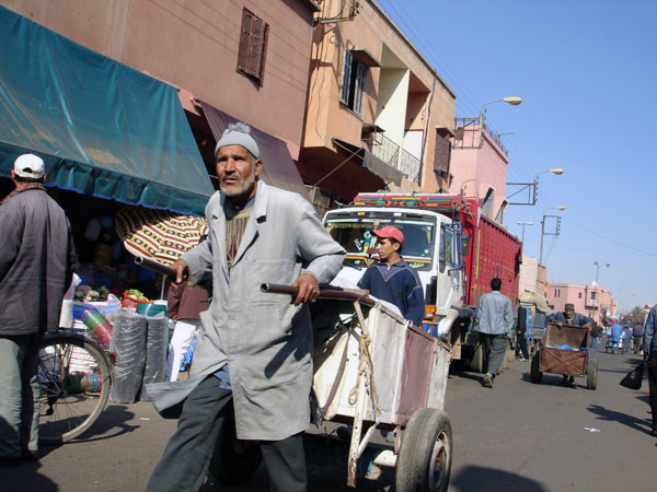 Man with his cart, Marrakech 2005