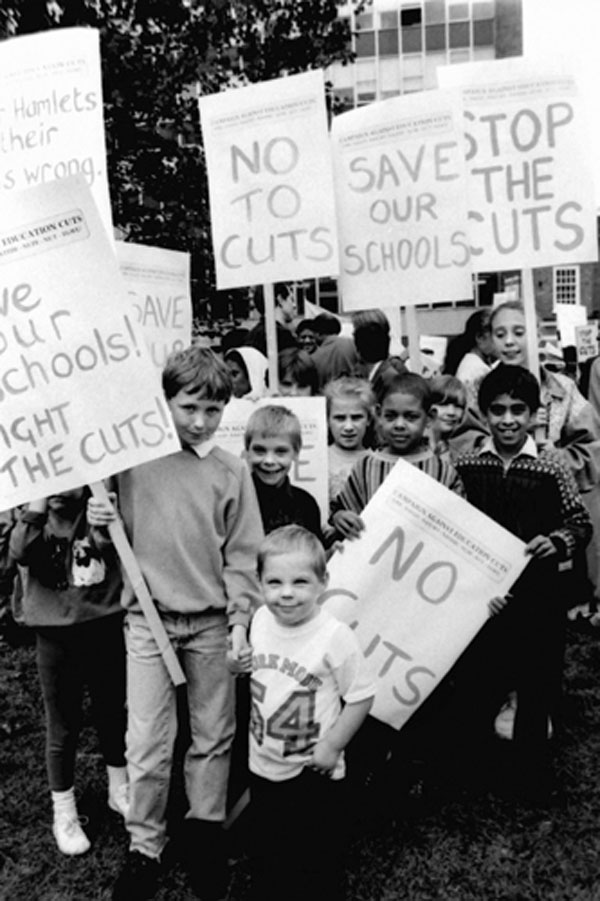 Demonstration against education cuts, c. 1988