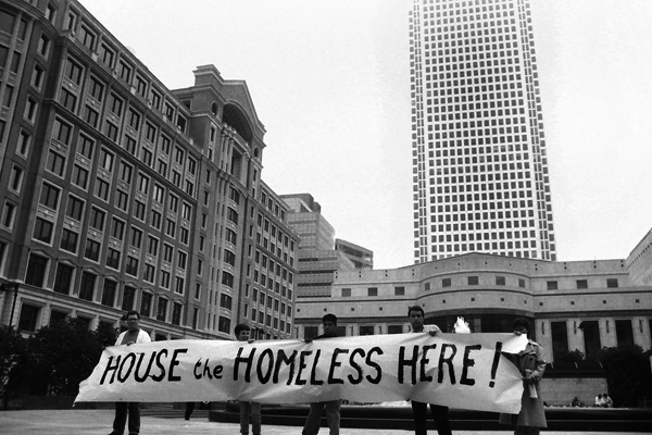 Housing protest, early 1990's