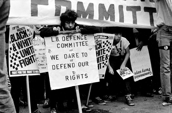 Liverpool 8 defence committee following the Toxteth riots, 1982