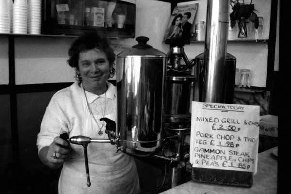 Cafe on Mile End Road, c. 1990