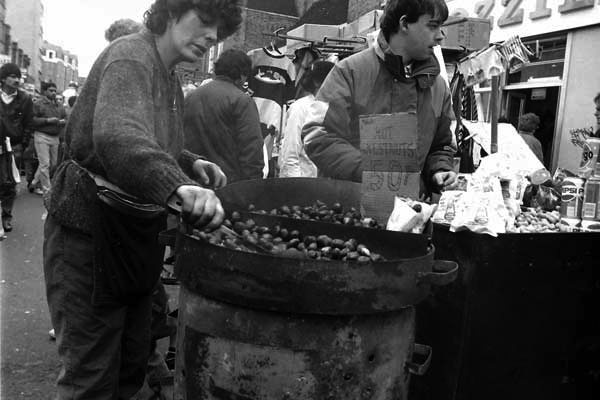 Chestnuts for sale, Wentworth Street c. 1988