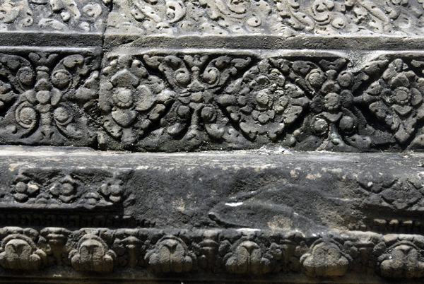 Ancient Cambodian temple carvings
