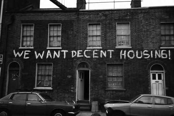 Housing protest, Stepney early 1980's