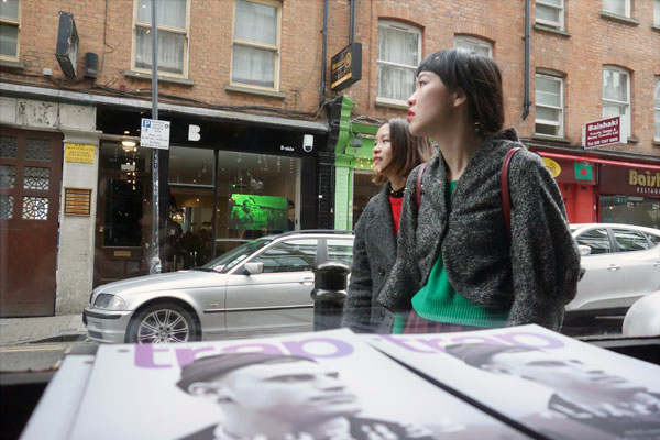 Looking out into Hanbury Street from the 'Blitz' shop, 2013