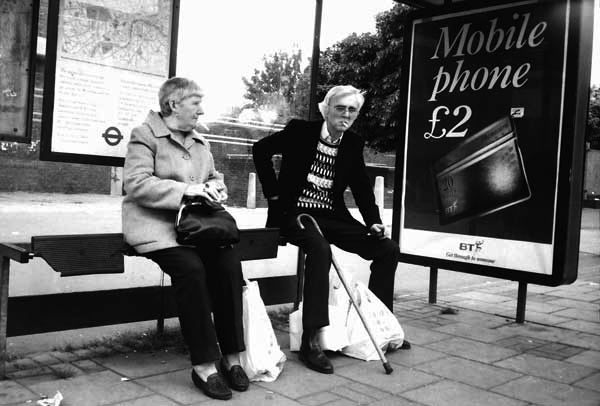 Whitechapel bus stop, c. 1990