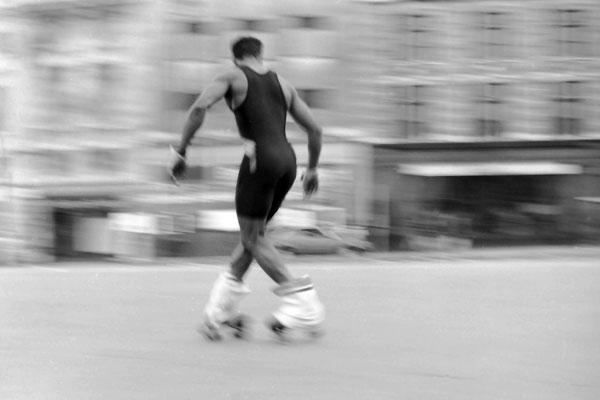 Skater in Trafalgar Square, c. 1990