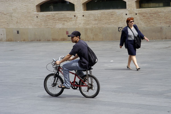 Man on a bike, Barcelona 2005