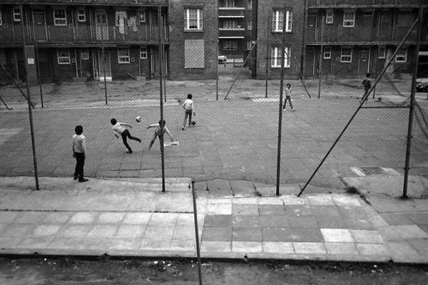 Children playing in Poplar, 1983