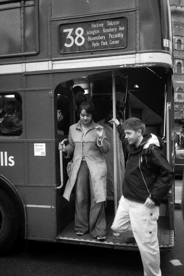 Bus in London 1995